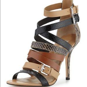 Michael Kors Cecelia Mixed Media Strappy Sandal 9